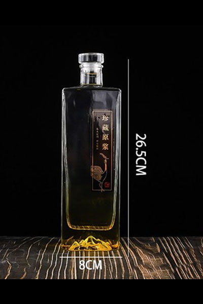 新款晶白玻璃瓶-003