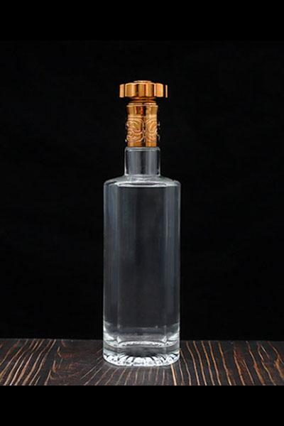 新款晶白玻璃瓶-009