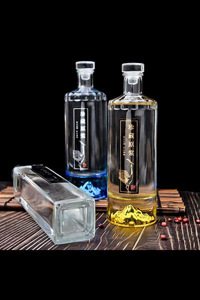 新款晶白玻璃瓶-013